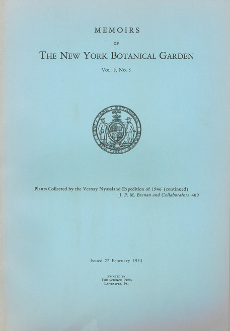 Plants Collected by the Vernay Nyasaland Expedition of 1946. Mem(8)5