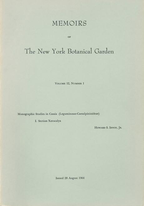 Monographic Studies in Cassia (Leguminosae-Caesalpinioideae) I. Mem (12)1