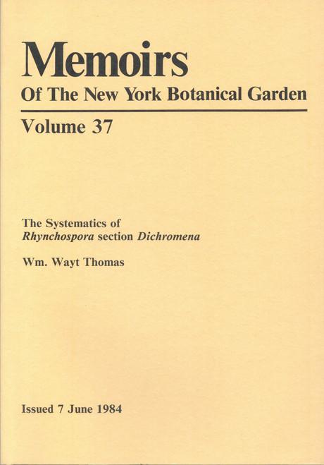 The Systematics of Rhynchospora Section Dichromena. Mem (37)