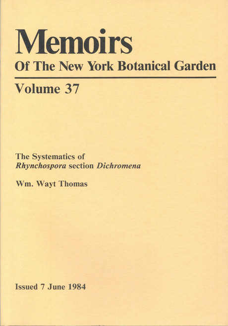 The Systematics of Rhynchospora Section Dichromena. Mem (37)