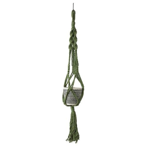 Green Macrame Plant Hanger
