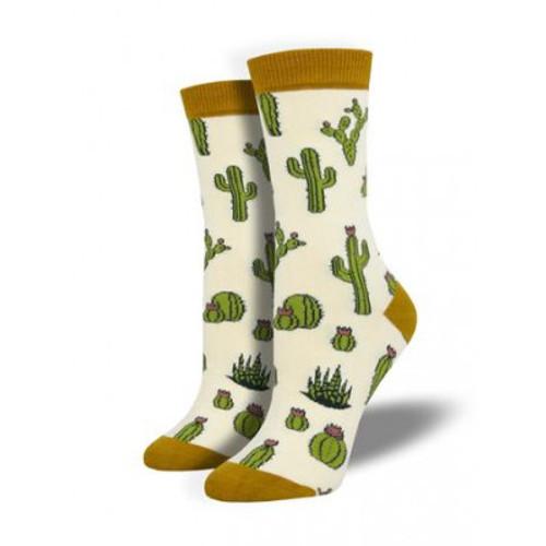 King Cactus Socks - Ivory