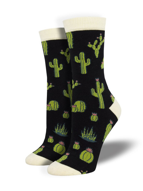King Cactus Socks - Black