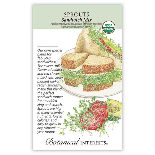 Botanical Interests - Sandwich Mix Sprouts Seeds