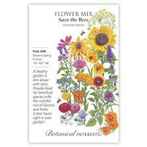 Botanical Interests - Save the Bees Flower Mix Seeds