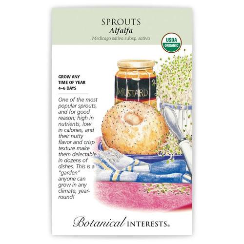 Botanical Interests - Alfalfa Sprouts Seeds