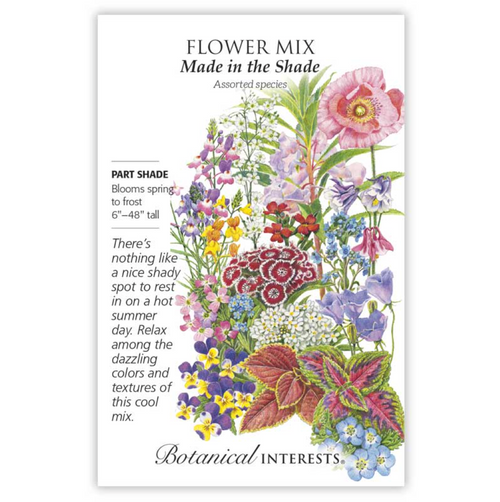 Botanical Interests - Made in the Shade Mix Seeds