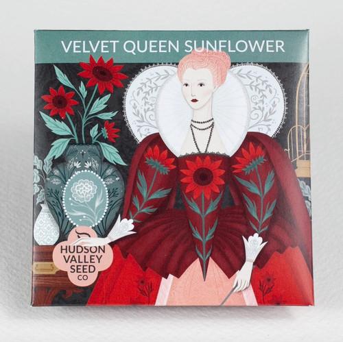 Velvet Queen Sunflower Seed Packet