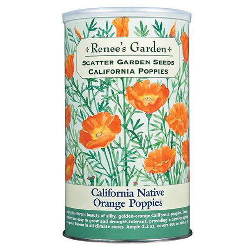 Renee's Garden - California Native Orange Poppies Scatter Garden Seeds