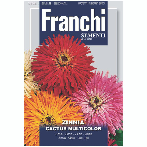 Franchi Seeds - Zinnia Cactus Flowered