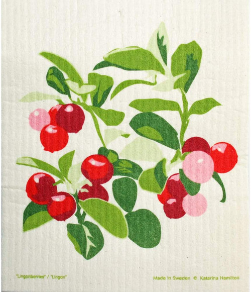 Lingonberries Dish Cloth