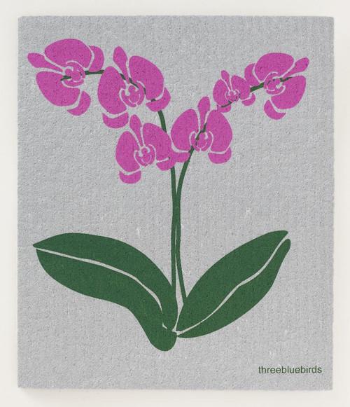 Orchid Dish Cloth