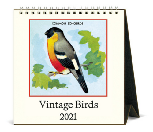 Vintage Birds Mini Easel 2021 Calendar