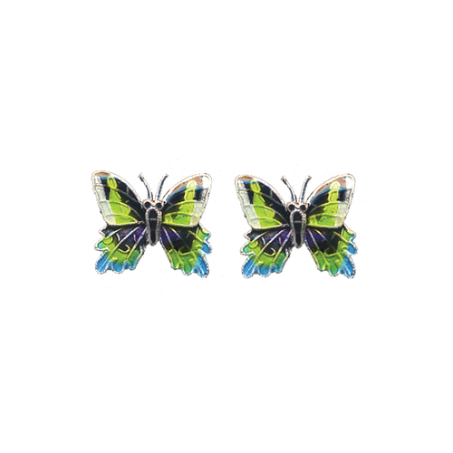 Sunset Moth Post Earrings