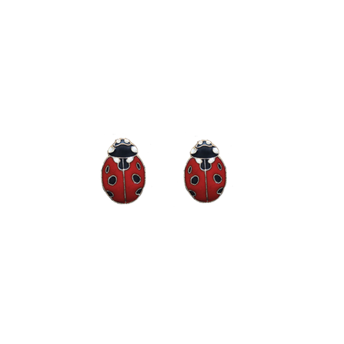 Ladybug Post Earrings
