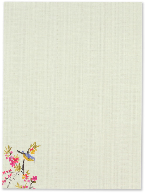 Blossoms & Bluebirds Stationery Set