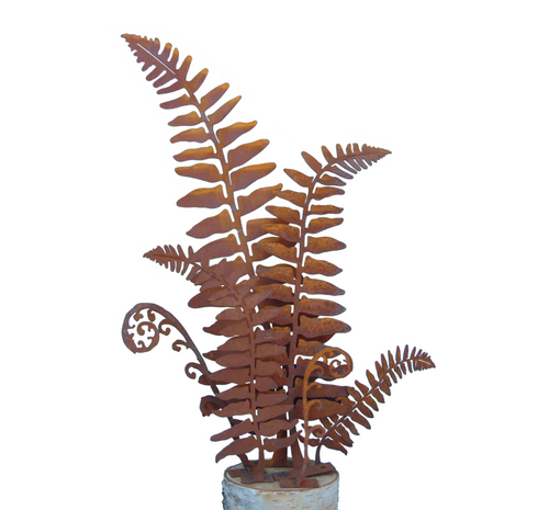 Rusted Fern Sculpture