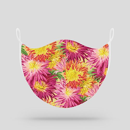 Floral Mums Cloth Mask