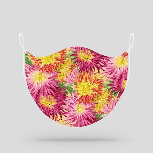 Floral Mums Cloth Mask