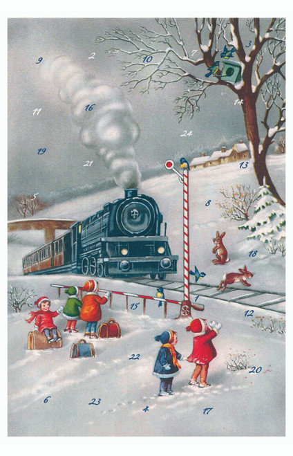 Old Fashion Train Advent Calendar