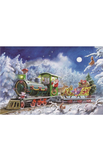 Santa in Train Advent Calendar