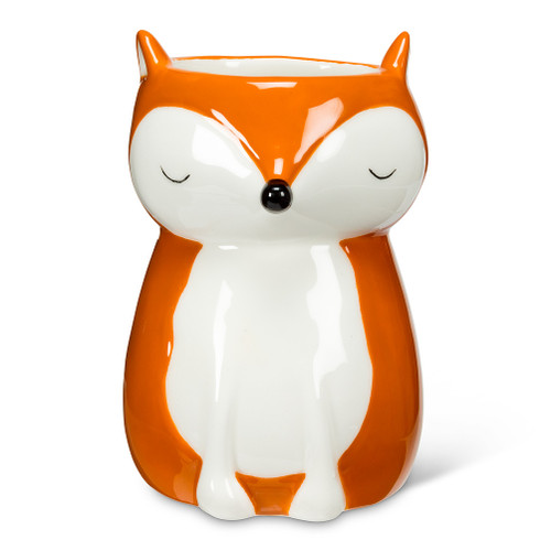 Sitting Fox Mini Planter