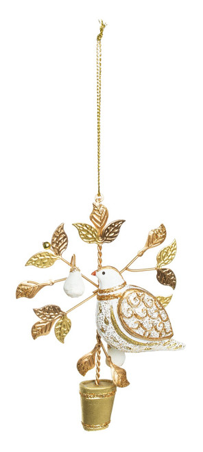 Partridge in a Pear Tree Topiary Ornament
