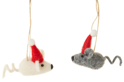 Santa Mice Ornament - Assorted