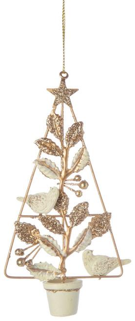 Wire Topiary Bird Ornament