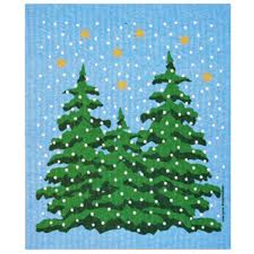 Winter Forest Dish Cloth