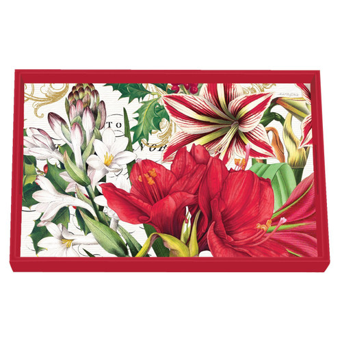 Merry Christmas Vanity Decoupage Wooden Tray