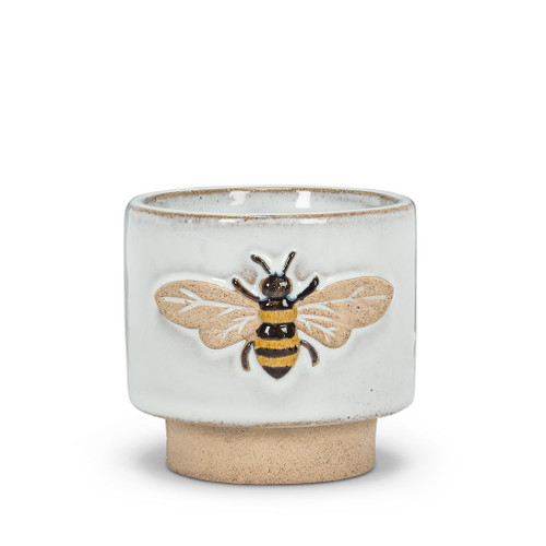 Small Single Emboss Bee Planter