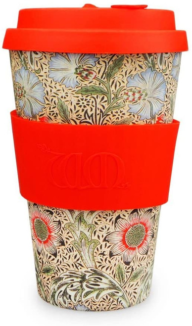 William Morris Red Corncockle, 14oz Ecoffee Cup