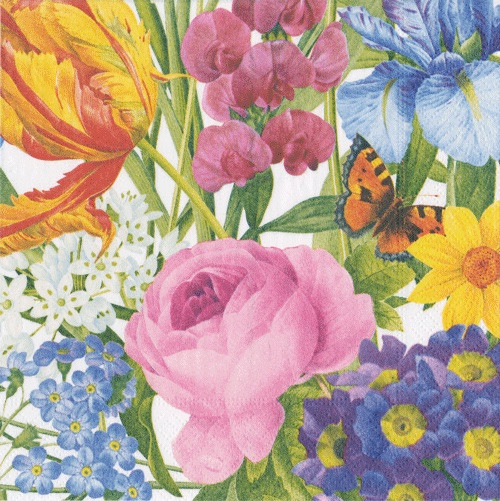 Redoute Floral Luncheon Napkins