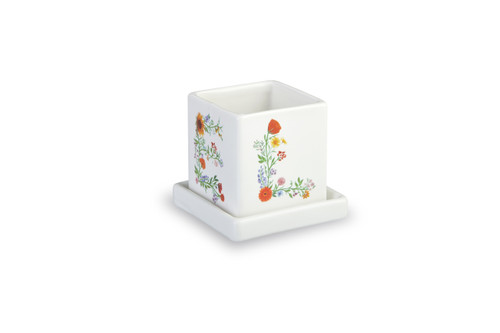 Square Bloom Plant Pot