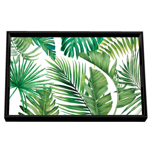 Palm Breeze Decoupage Wooden Vanity Tray