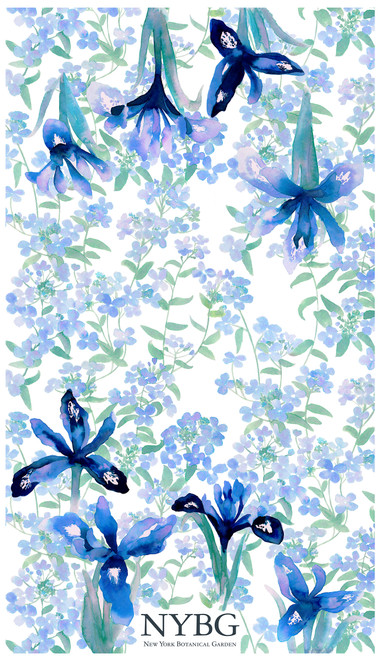 NYBG Iris Tea Towel