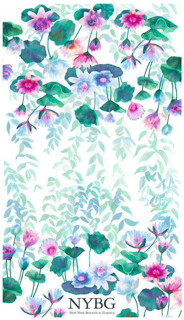 NYBG Water Lily Tea Towel