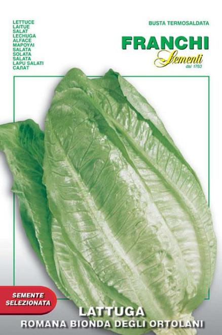 Franchi Seeds - Lattuga Romana Bionda Degli Ortolani
