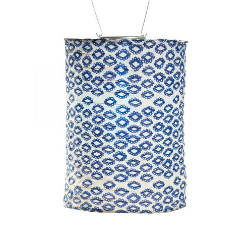 Tribal Diamond Cylinder Solar Lantern