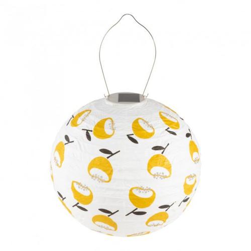 Lemon Poppy Globe Solar Lantern