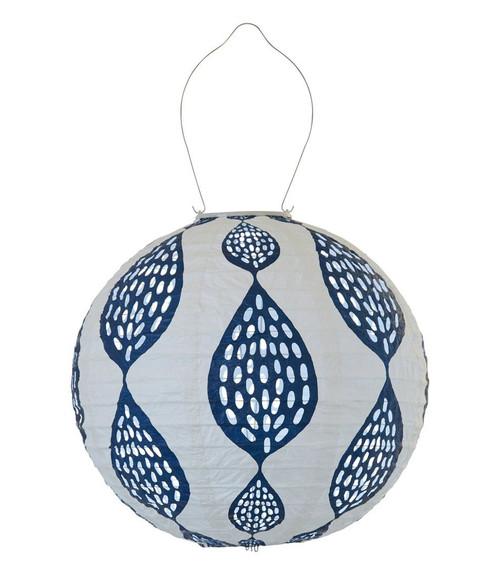 Indigo Leaf Globe Solar Lantern