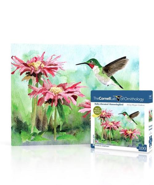 Ruby-Throated Hummingbird Mini Puzzle