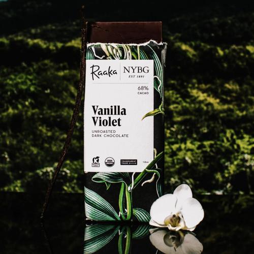NYBG x Raaka Vanilla Violet Chocolate