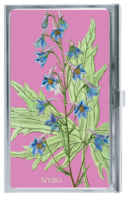 NYBG Blue Floral Card Case