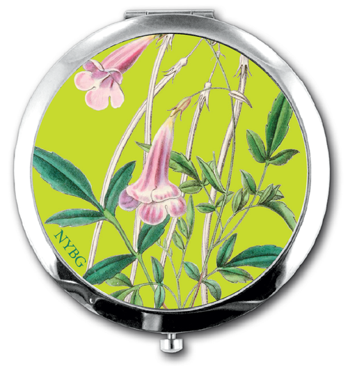 NYBG Pink Floral Compact Mirror