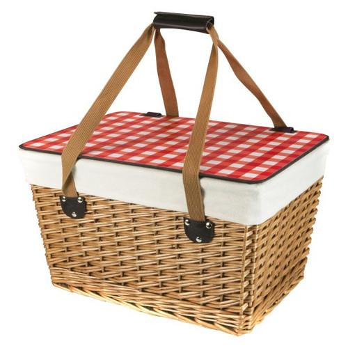 Canasta Grande Red Gingham Picnic Basket