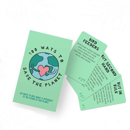 100 Ways to Save the Planet Card Set