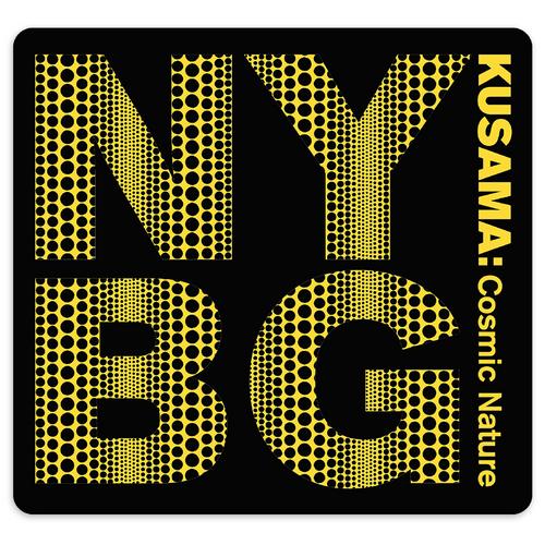 Yayoi Kusama Black NYBG Mouse Pad