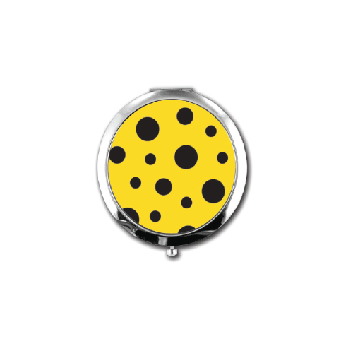 Yayoi Kusama Black Polka Dot Compact Mirror